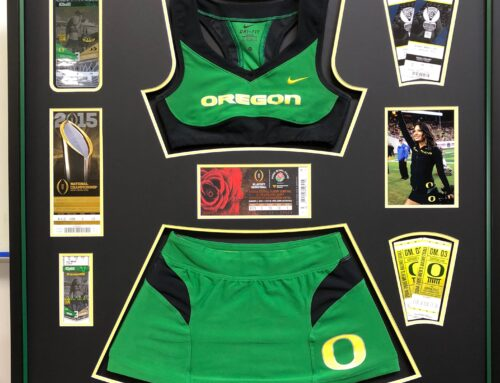 OREGON Cheerleader Jersey Collage
