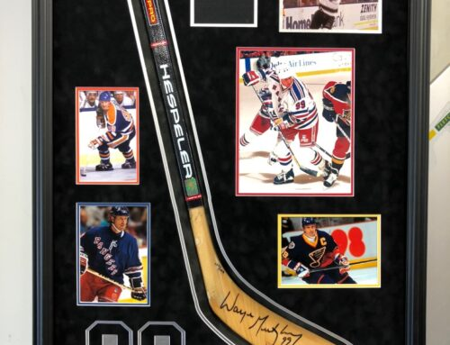 Wayne Gretzky Stick Collage