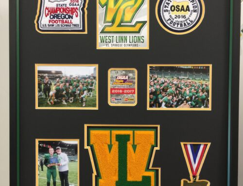 West Linn Letter Collage with Medal